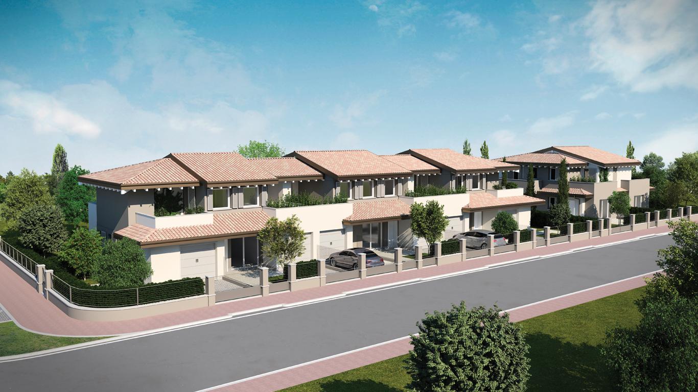 Appartamenti e villa bifamiliare a Budrione di Carpi