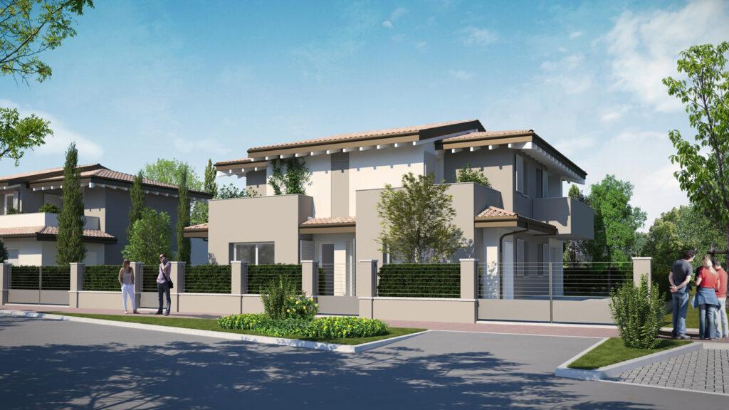 Appartamenti in villa e villa bifamiliare a Budrione di Carpi